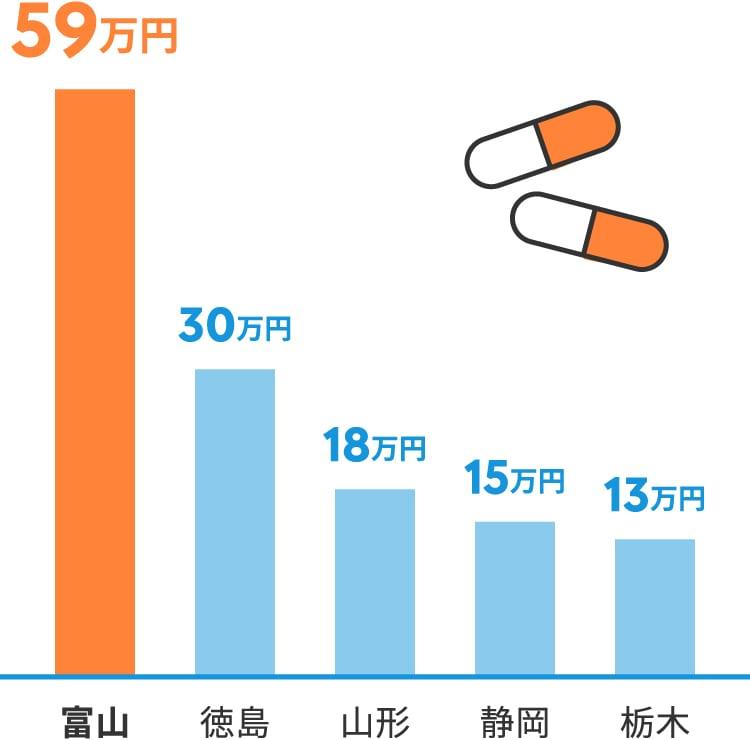 全国有数の薬産地として、医薬品の地場中堅企業や大手メーカーの工場が数多く存在